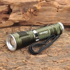 Raysoon RS-V8 Cree XM-L T6 800LM 5-Mode White Zooming Flashlight - Army Green (1 x 18650)