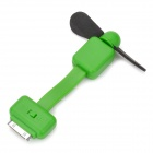 Mini Apple 30pin 2-Blade Cooling Fan for iPhone / iPod Touch - Green