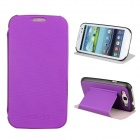 Protective ABS + PU Leather Foldable Holder Case for Samsung Galaxy S3 i9300 - Purple