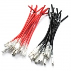 DIY 4.8MM Terminal Wire Harness - Red + Black (10cm / 20-Piece Pack)
