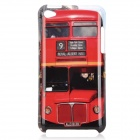 Stylish Bus Pattern Protective PC Back Case for Ipod Touch 4 - Red + Black