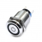 DIY Water Resistance Stainless Steel Push Button Switch - Silver