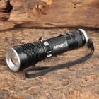 Raysoon RS-V8 Cree XM-L T6 800LM 5-Mode White Zooming Flashlight - Black (1 x 18650)