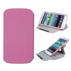 Protective 360 Degree Rotation ABS + PU Leather Holder Case for Samsung i9300 - Pink