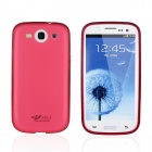 Protective Aluminum Frame + ABS Plastic Detachable Case for Samsung Galaxy S3 i9300 - Red + Pink