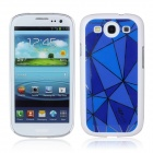 Protective ABS Plastic Case for Samsung Galaxy S3 i9300 - White + Blue