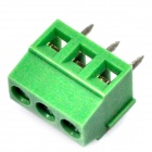 DIY 3-Pin Cable Wire Terminal Connectors - Green (20PCS)
