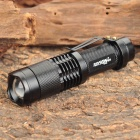 Raysoon RS-TD398 Cree XM-L T6 800LM 3-Mode White Zooming Flashlight - Black (1 x 18650)