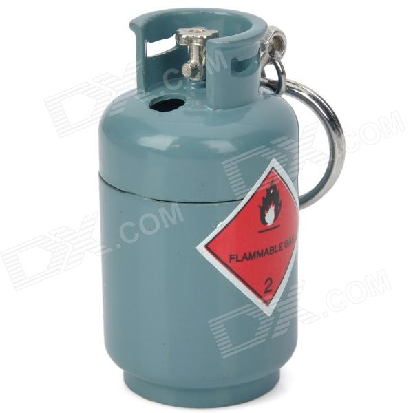 Creative Gas Tank Style Butane Gas Lighter - Grey Blue