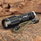 Raysoon RS-832 Cree XM-L T6 800LM 2-Mode White Zooming Flashlight - Black (1 x 18650)