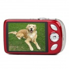 "DC-110 3.0"" LCD TFT Max 16MP Interpolation 5X Optical Zoom Digital Camera - Red"