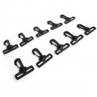 Travel Luggage Bag Buckle Clasp - Black (10-Piece Pack)