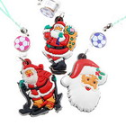 Santa Claus Promotional Mobile Phone Strap (12 Pack)