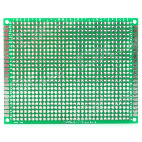 Double-Sided Glass Fiber Board Protoboard - for Arduino (Works with Official Arduino Boards) 6 in 1 double sided pcb prototype boards set green