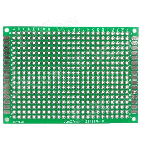 PDMB05 PCB Prototype Blank PCB 2 Layers Double Side Protoboard - Green 6 in 1 double sided pcb prototype boards set green