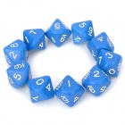 Unique 10-Sided Game Dice - Blue (10-Piece Pack)