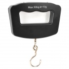 "1.7"" LCD Letter ""D"" Style Electronic Handheld Hanging Digital Luggage Scale - Black (2 x AAA)"