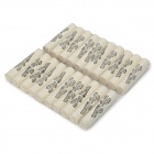 9mm Smoking Tobacco Pipe Absorbent Filter - White (20-Piece Pack)
