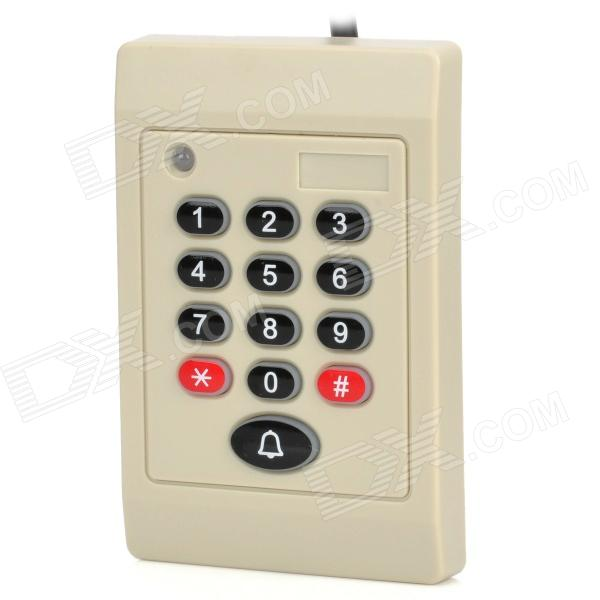 Security Password Access Control ID Proximity Sensor Card Reader - White