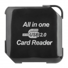 5-in-1 USB 2.0 SD / Micro SD / TF / MS / M2 Memory Card Reader - Schwarz