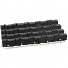 3-Pin Mini Micro Switch w/ Push Button - Black (20-Piece Pack)