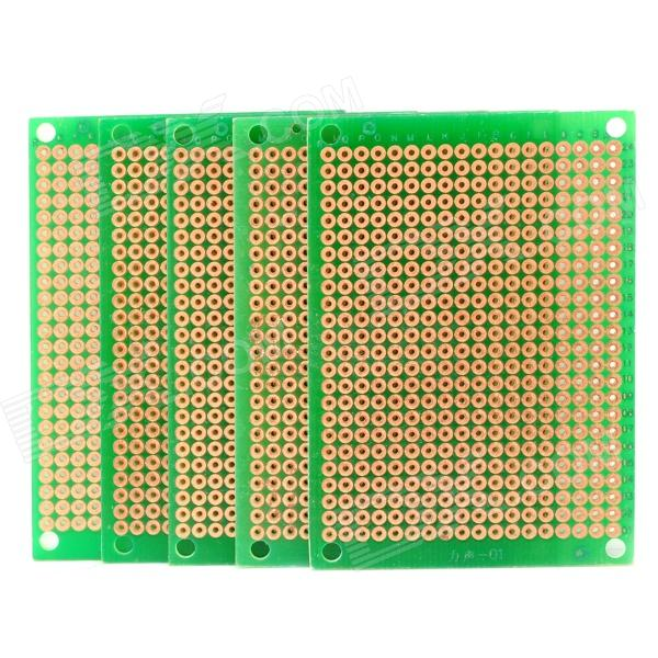 DIY Glass Fiber Prototipagem PCB Board Universal - Green (5-Pack)