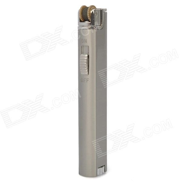 Strip Shaped Stainless Steel Butane Lighter - Silver wrench shaped steel butane lighter