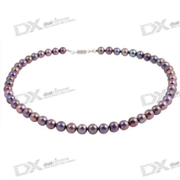 Stylish Natural Black Pearl Necklace (40cm) цена и фото