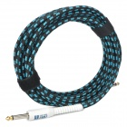 6.35mm Male to Male Audio Connection Cable for Guitar - Blue + White (5m-Length)
