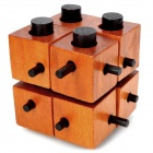 DIY Educational Wooden Puzzle Toy Lock - Brown
