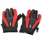 Outdoor Sports Long Fingers Non-slip Gloves - Red + Black (Pair)