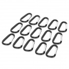 Outdoor Sports Locking Carabiner Hook Set - Silver + Black (15-Piece)