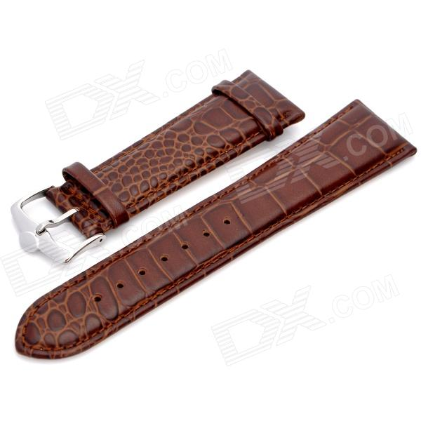 Cow Leather Sweat-Resistant Wristwatch Strap Watchband - Deep Brown (8.8 x 2.4 x 0.2cm)