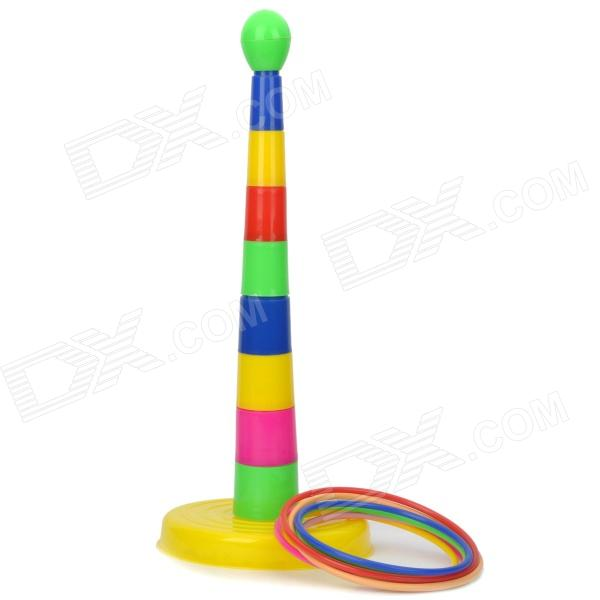Colorful Ring Toss Quoits Game Toy - Multi-Color