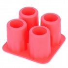 Silicone Mini Cup Style Ice Cubes Trays Maker DIY Mould - Red