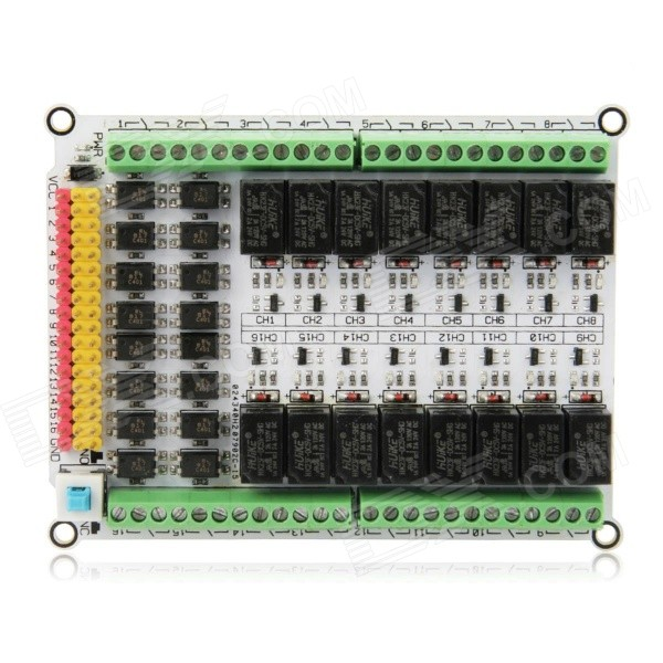 цена на 16-Channel 5V Relay Module Expansion Board for Arduino (Works with Official Arduino Boards)