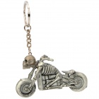 Cool Skeleton Motorcycle Style Keychain - Grey White