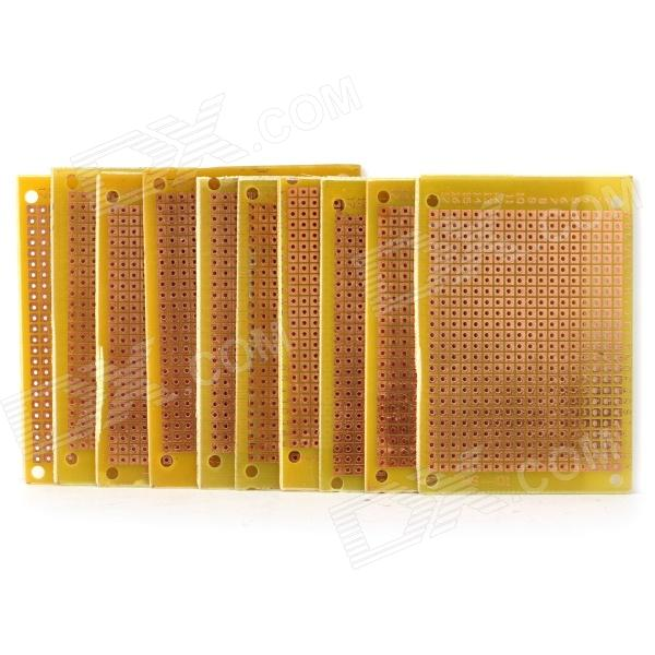 Glass Fiber Prototyping PCB Universal Board - Yellow (10-Pack) double sided glass fiber prototyping pcb universal board 5 pack
