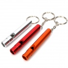 Outdoor Survival Aluminum Whistle Keychain - Random Color