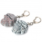 Scary Skull Style Keychain with Light & Sound Effects (3 x AG10 / 2-Piece Pack)
