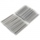 Optical Fiber Heat Fully Shrinkable Tube - Silver (100-Piece Pack)