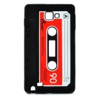 Stylish Cassette Tape Style Protective Silicone Back Case for Samsung Galaxy Note i9220 - Black