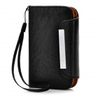 KALAIDENG Protective PU Leather Flip-Open Case for HTC Desire C A320e - Black
