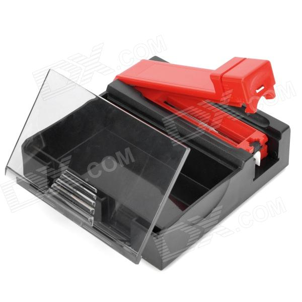 Cigarette Tobacco Roller Rolling Machine with Box Case - Black + Red