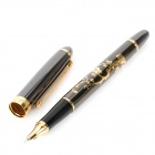 YongSheng Exquisite Stainless Steel Fountain Pen - Black + Golden