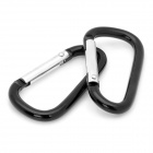 Outdoor Sports Carabiner Hook Set - Silver + Black (15-Piece Set)
