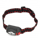 Waterproof 3-Mode White Light Headlamp - Black (3*AAA)