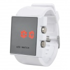 SKMEI Fashion Square Mirror Digital LED Wrist Watch - White (1 x CR2025)