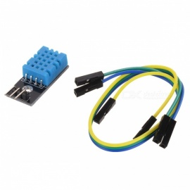 DHT11 3-Pin Digital Temperature Humidity Sensor Module - Green