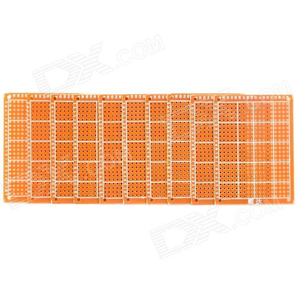 Prototype Universal Printed Circuit Board Breadboard - Golden (10-Piece Pack)
